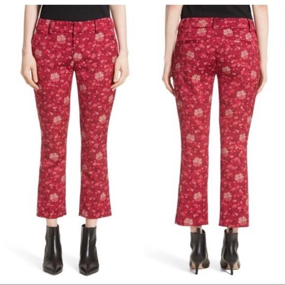 Alice + Olivia Pants - Alice + Olivia Stacey Crop Flare Print Pants